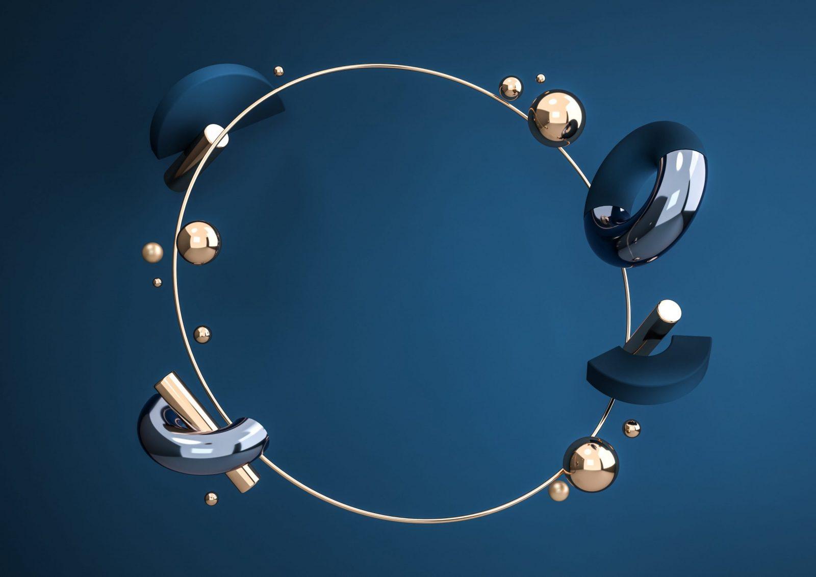 blue 3d model shapes aalofts design scaled