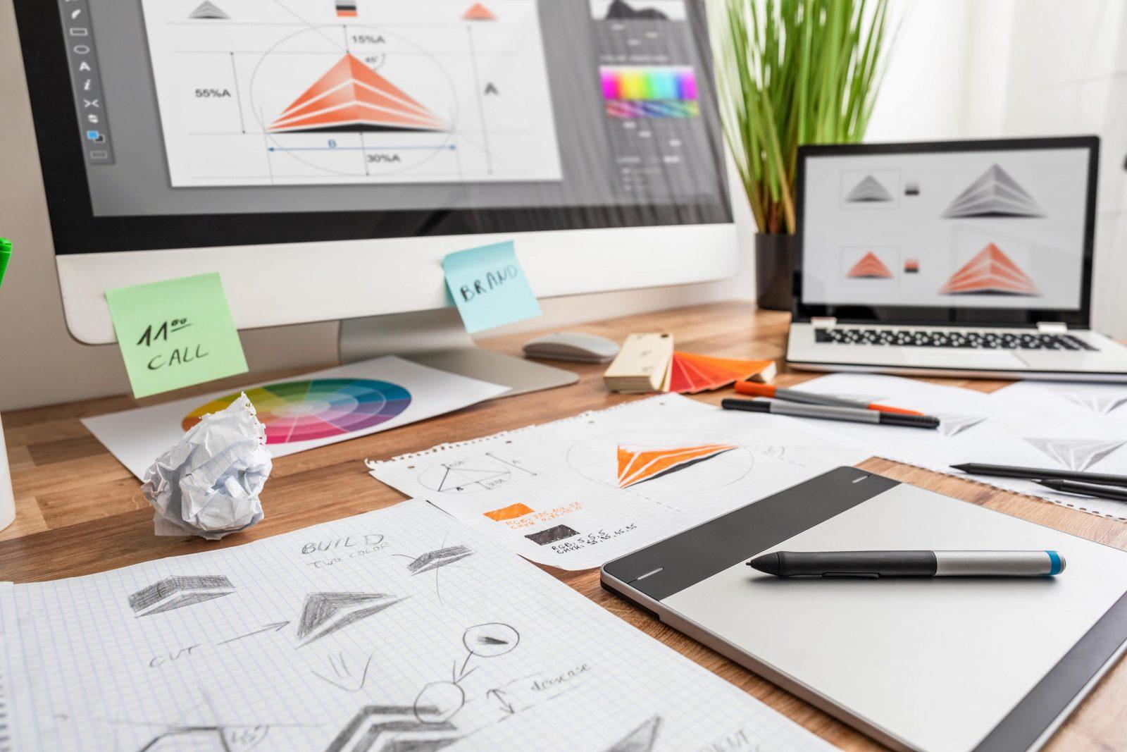 Logo Designer's Desk Graphic Design