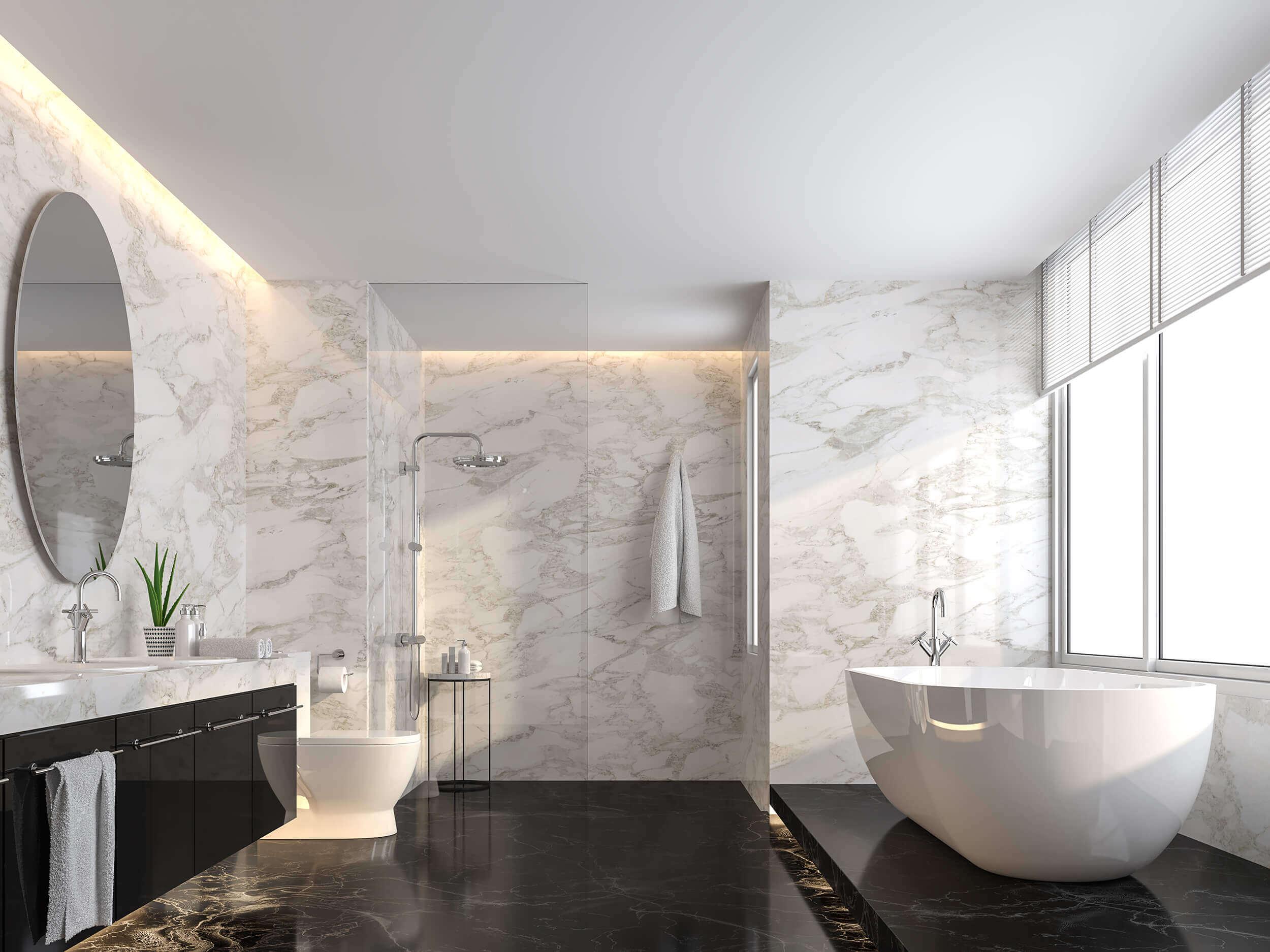 Luxury Bathroom Marble Interior