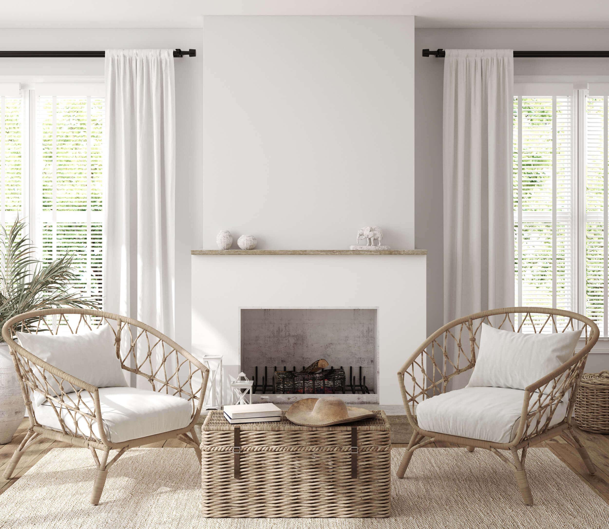 Modern Boho Living Room Interior Scheme
